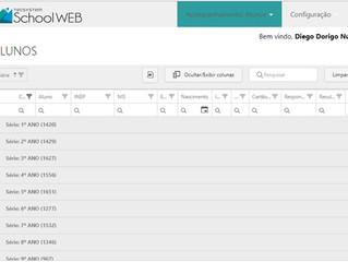 Agrupamento de colunas no School Web