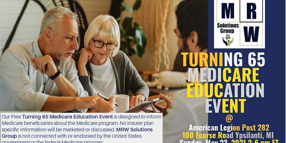 Turning 65 & Above   ON-SITE Drop-In Medicare Education Workshop - Washtenaw Cty.
