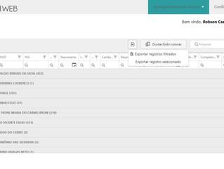 Exportação de dados do School Web para uma planilha eletrônica