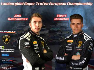 Bartholomew and Middleton team up for Lamborghini Super Trofeo Europe campaign