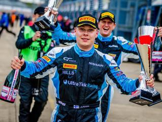 Maiden win for Jesse Anttila in British GT4