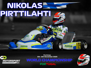 Nikolas Pirttilahti Races at the Karting World Championship at Portimao