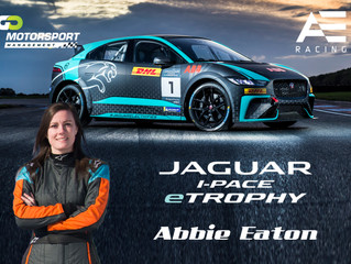 Guest appearance for Abbie Eaton in the Jaguar I Pace trophy