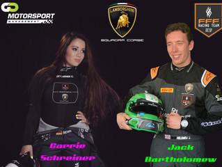 Go Motorsport Management Drivers Schreiner & Bartholomew selected for Lamborghini Young Driver P