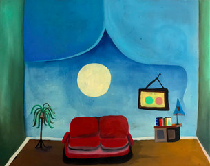 Moon room, 2020, Oil on canvas, 40 x 50 cm