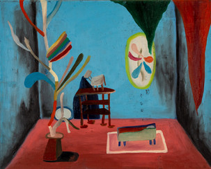 Toms bed and the ghost II, 2020, oil on canvas 40 x 50 cm
