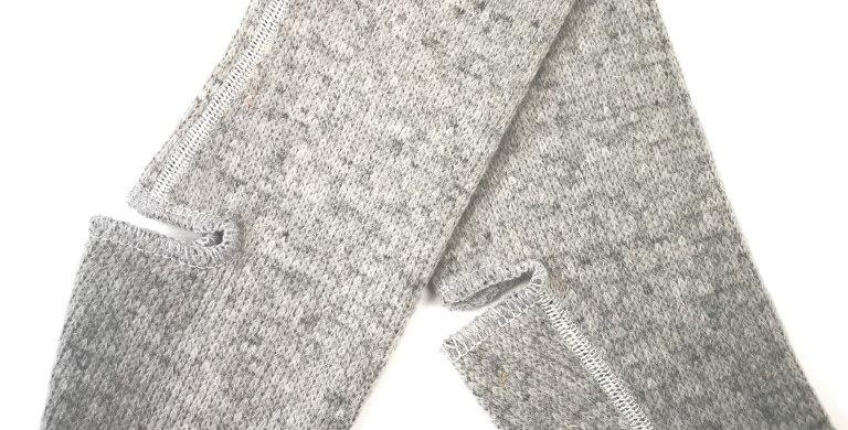 Yogasocks 100% wol grijs kort
