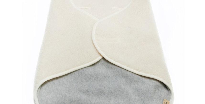 Wikkeldeken | Ecru/grijs
