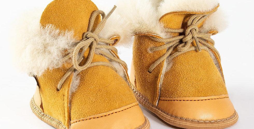 Baby Schoentjes Puk | Suède Geel