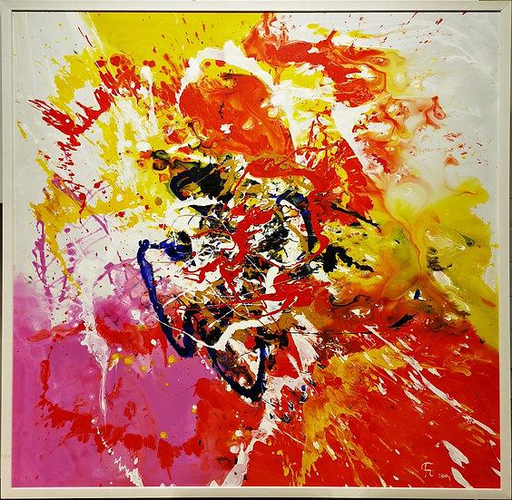 Flor de Los Ojos - 100 x 100 cm