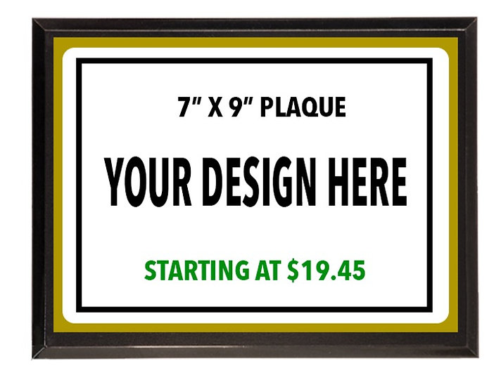 """7"""" X 9"""" Definition Aluminum Award Plaques Starting At"""