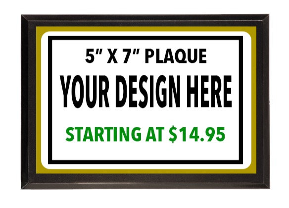 "5"" X 7"" High Definition Aluminum Award Plaques Starting At"