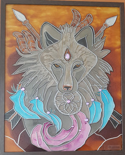 Loup chaman Amérindien