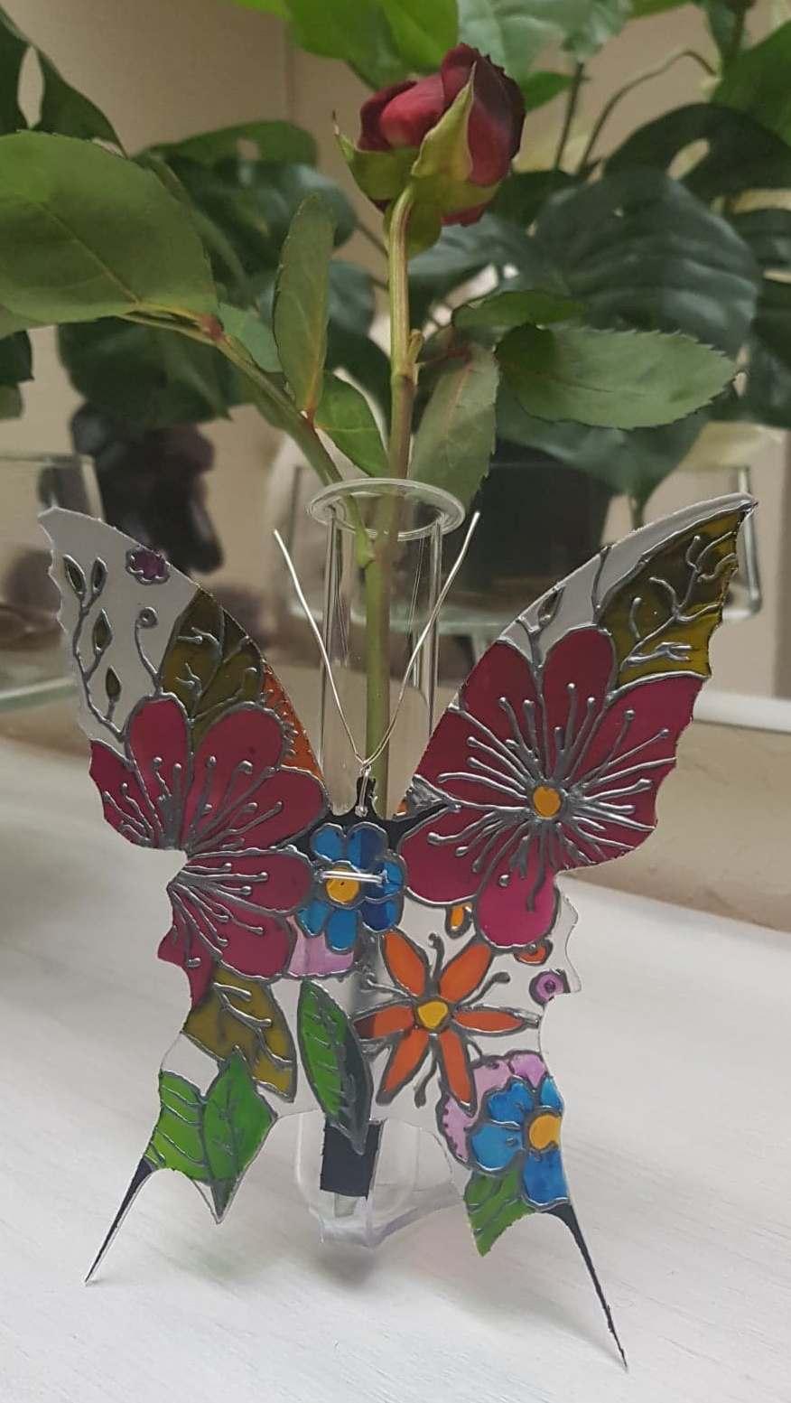 papillon jardin soliflore