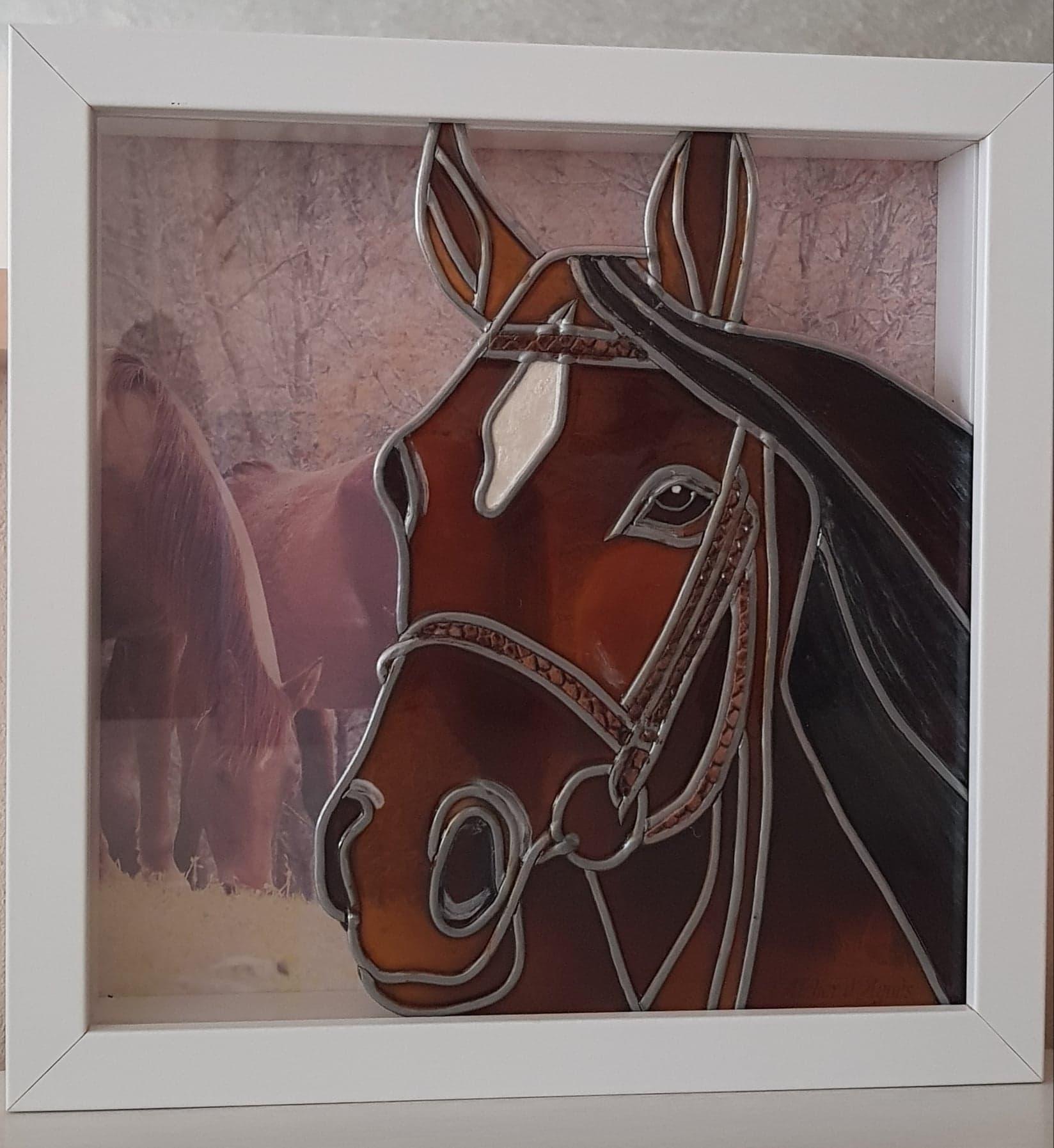 vitrine cheval