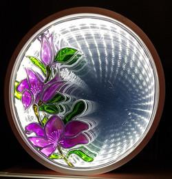 miroir fleuri infinity