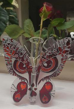 Papillon visage soliflore
