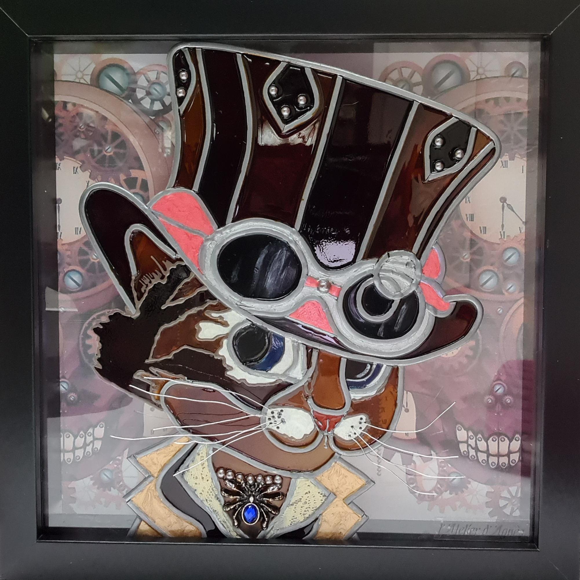 Cat steampunk