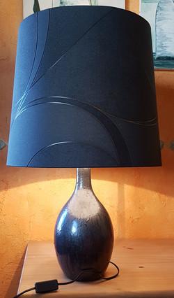 Lampe sur pied ébène