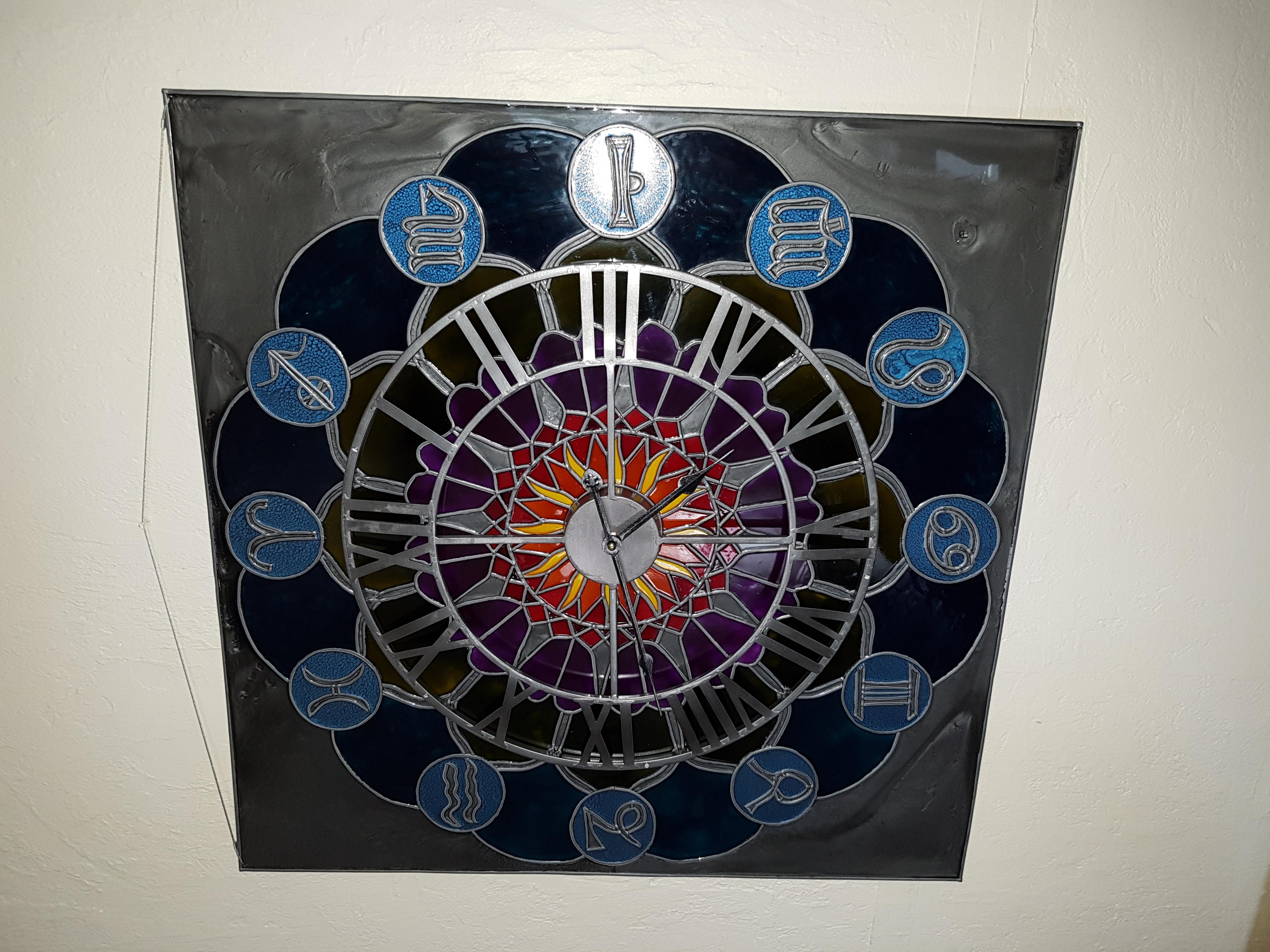 Horloge zodiaque mandala