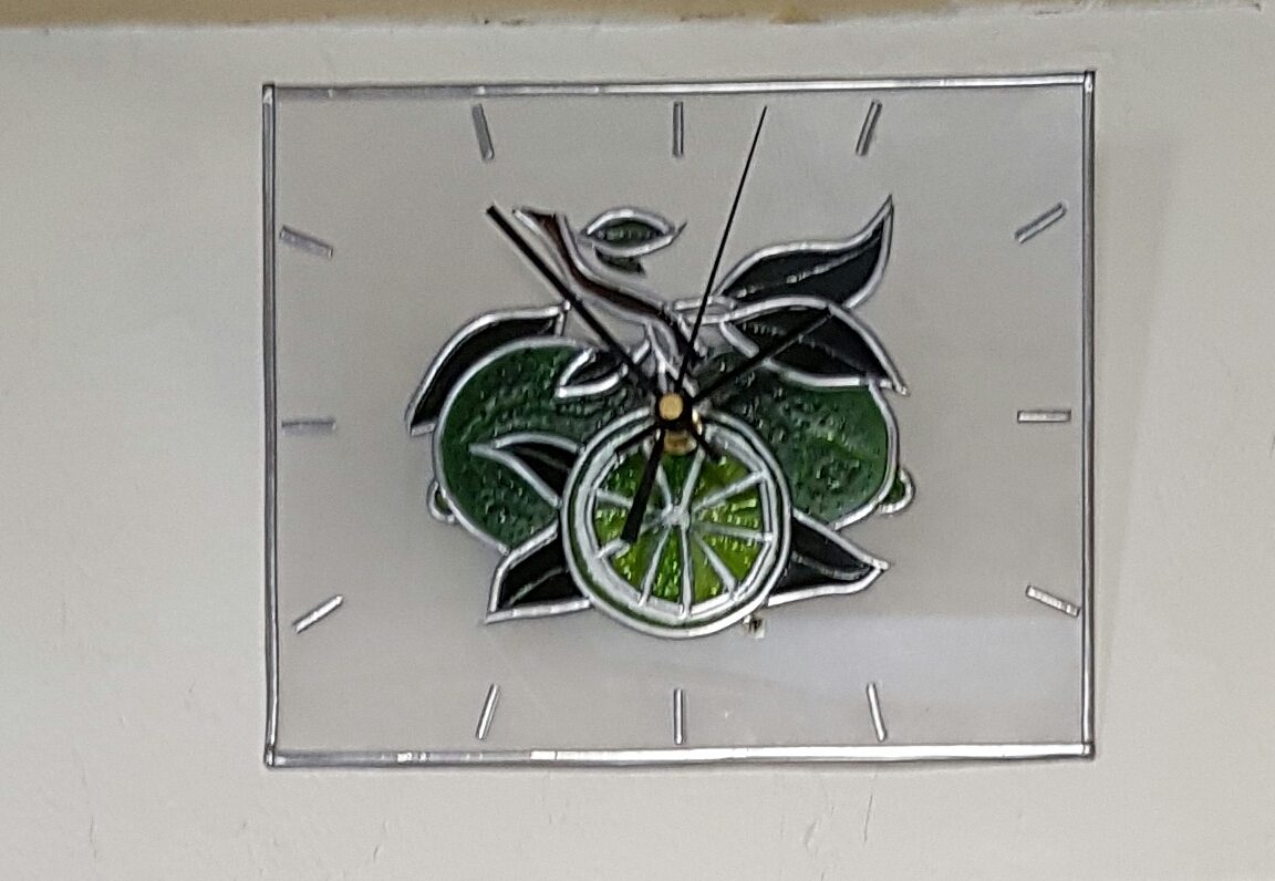 Horloge Citrons Verts