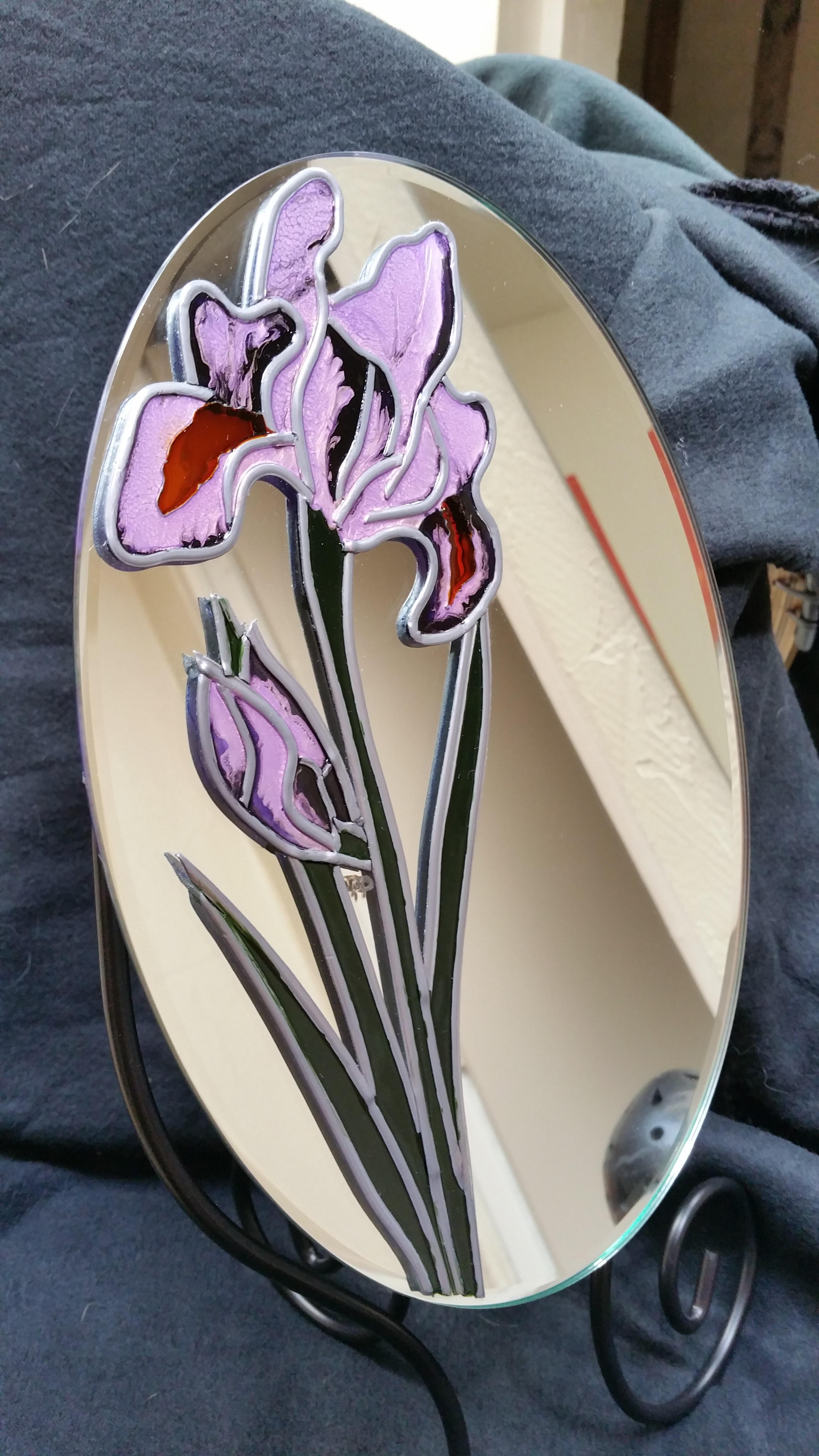 miroir sur pied Iris