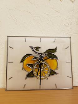 Horloge Citrons Jaunes