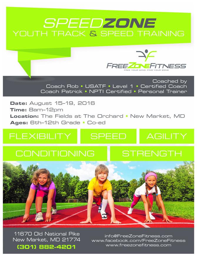 SpeedZone Youth Track & Speed Training!