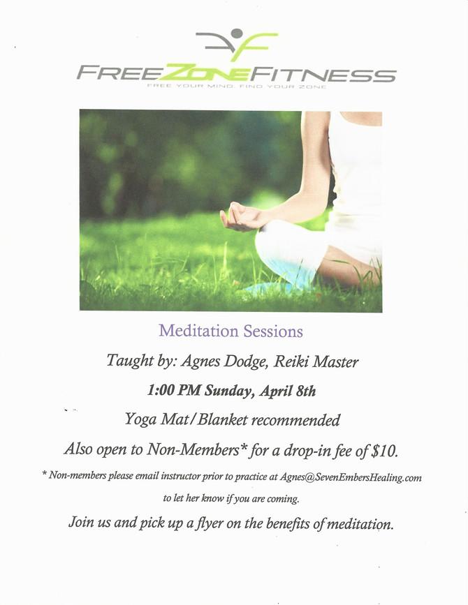 Meditation in April!