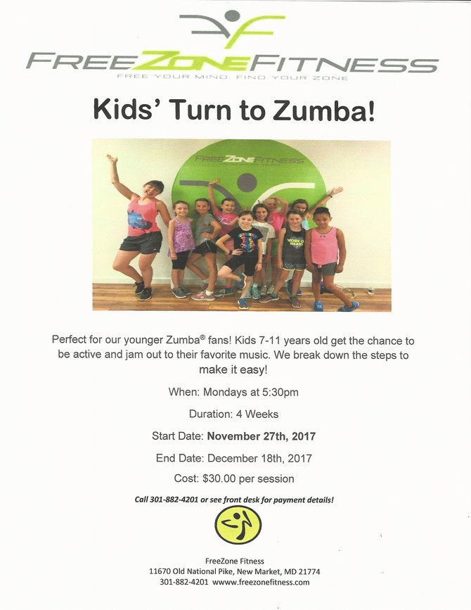 Kid's Zumba is back in November!