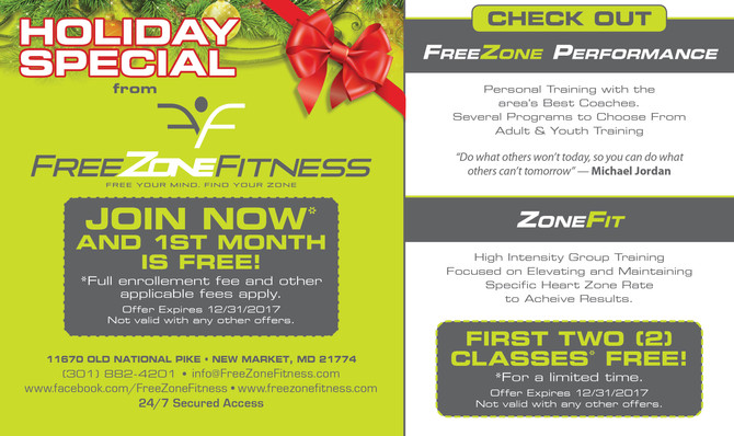 Holiday Special at FreeZone Fitness!