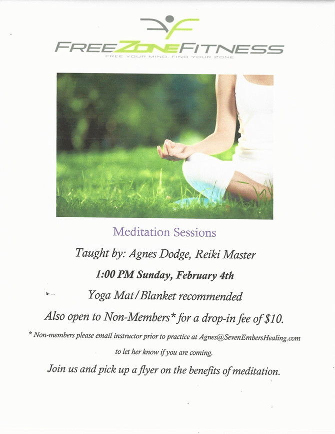 Meditation Session in February!