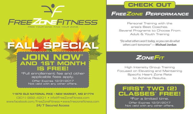 Fall Special! Join FreeZone Fitness!