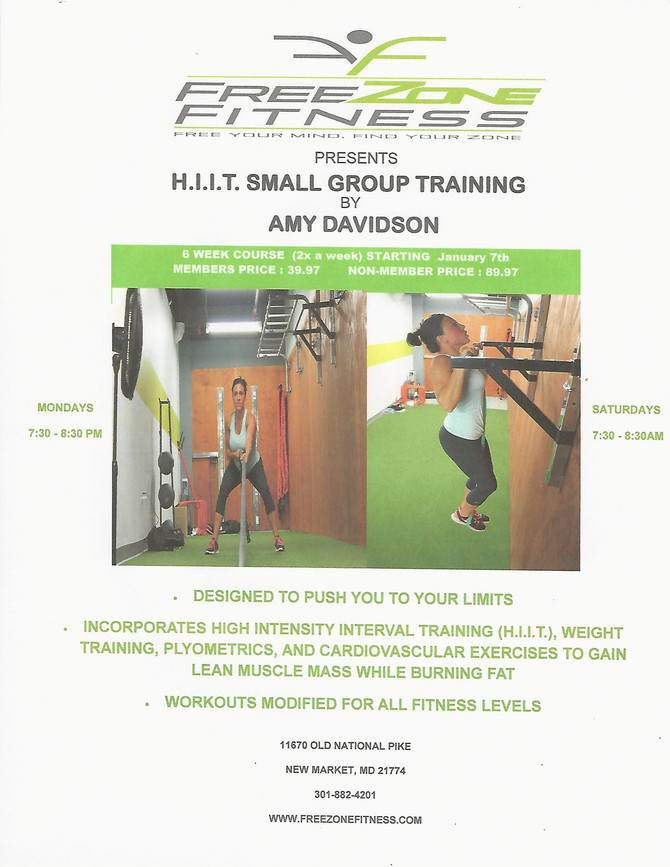 H.I.I.T. Training Now Available!