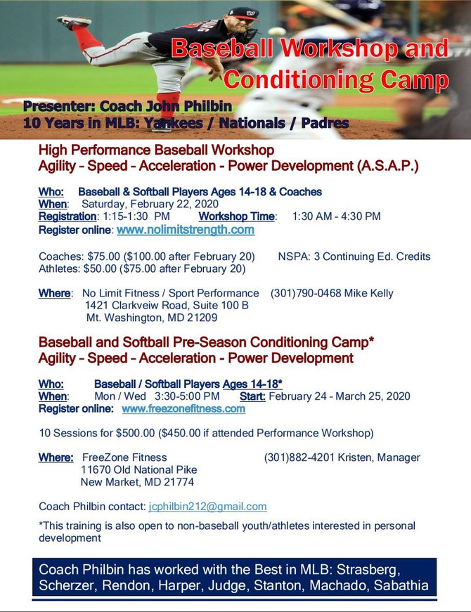 Baseball Workshop and Conditioning Camp