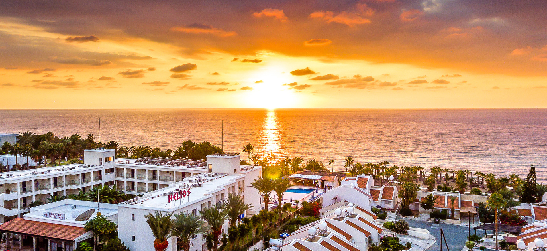 Helios bay hotel sunset