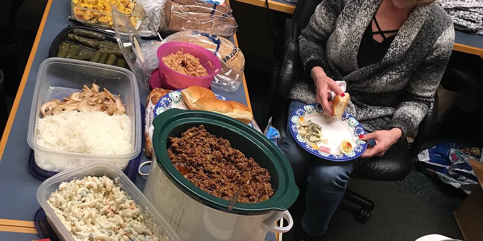 Friday Plarn Farm Pot Luck St. Patty's Day Volunteer Party