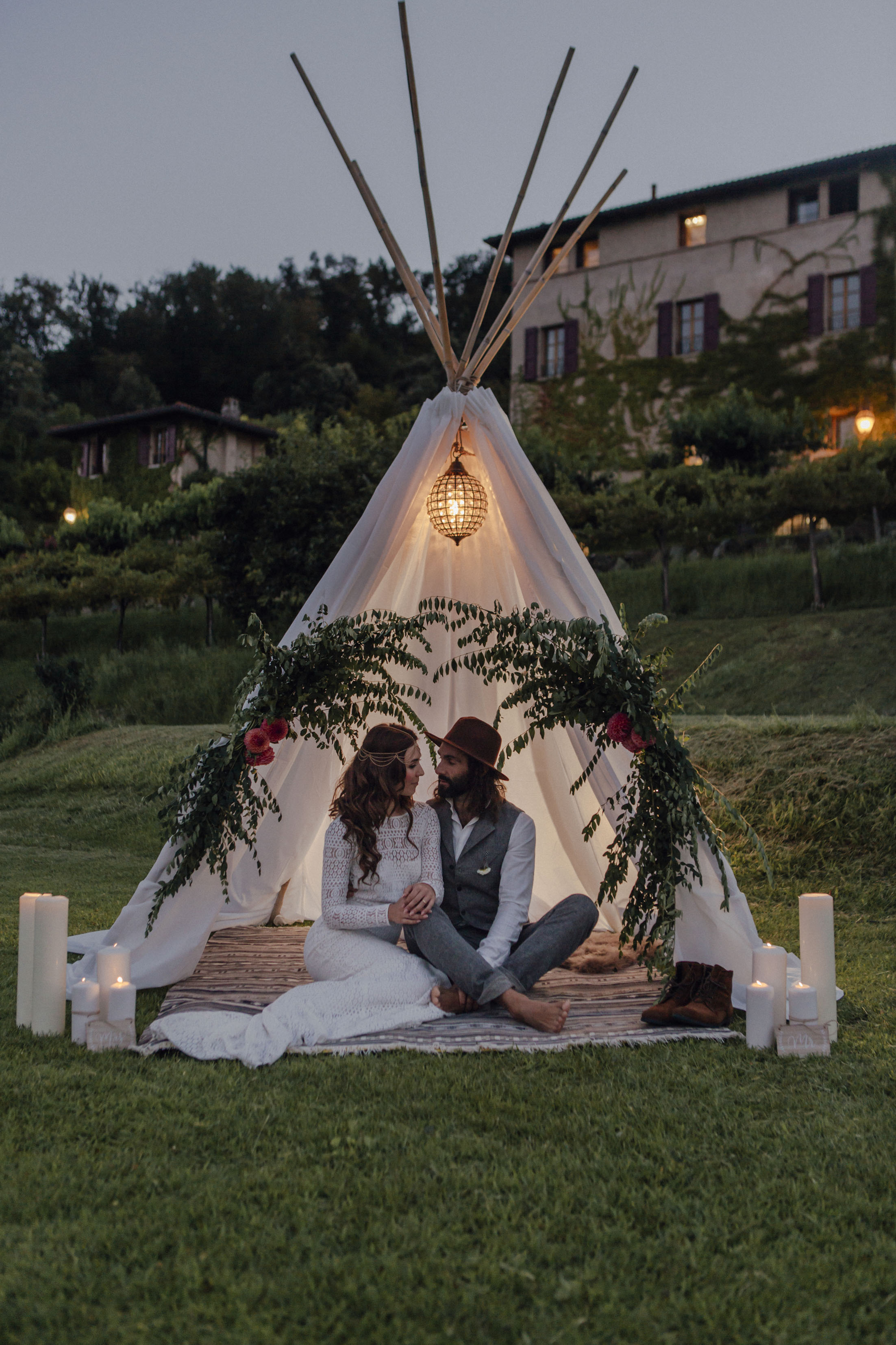 Tippy Zelt. Wedding Gardasee