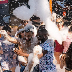 Foam party on Dragon Boat day trip