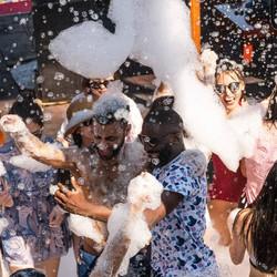Foam party on Dragon Boat day trip