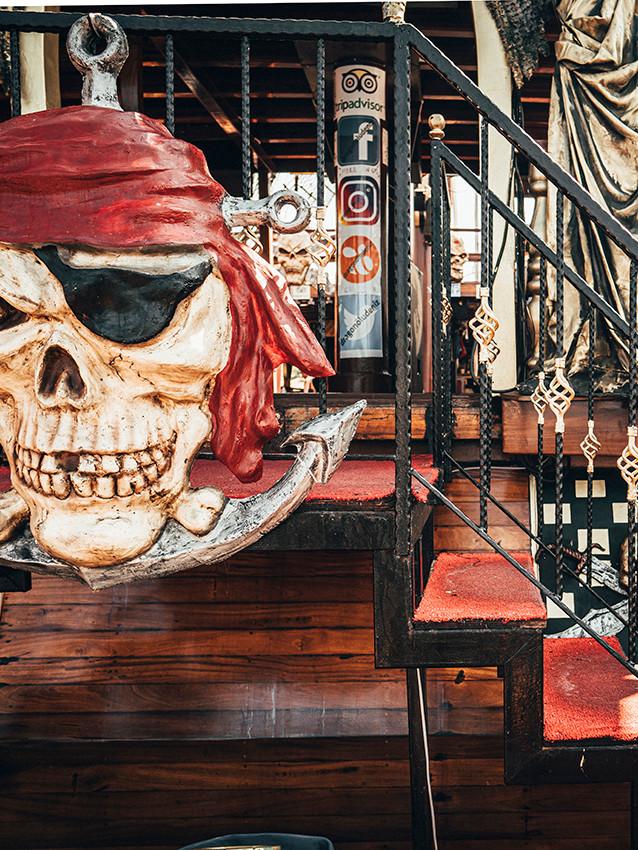 SKULL Dragon pirate boat trip Ölü Deniz Turkey
