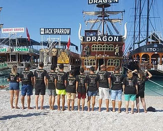 Dragon Pirate Boat Trip Crew Ölü Deniz Turkey