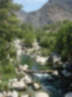 Mountain river rocks Dragon Pirate Boat Trip Ölü Deniz Turkey