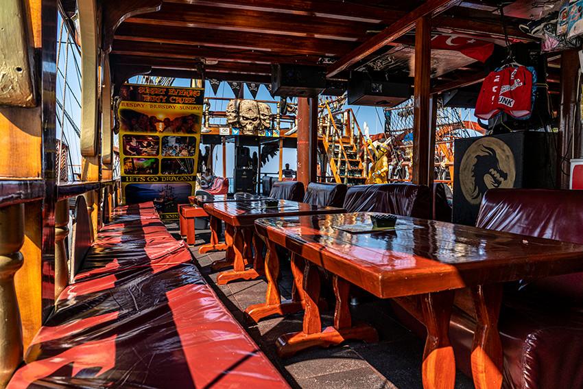 MIDDLE DECK Dragon Pirate Boat Trip Ölü Deniz Turkey
