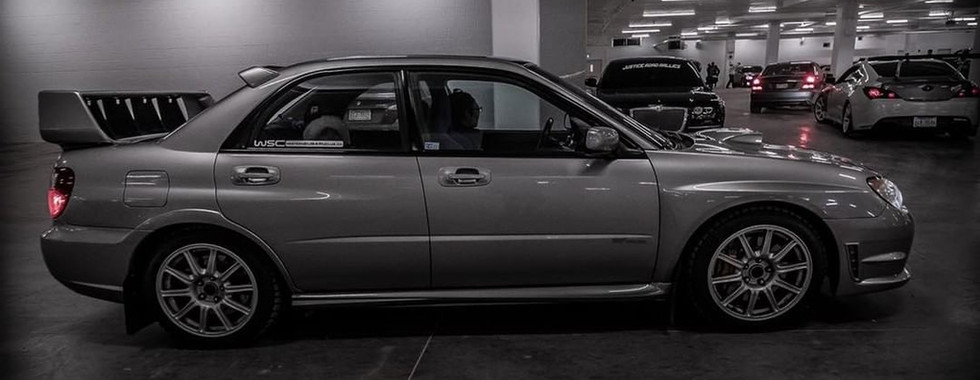 Grey Subaru sti