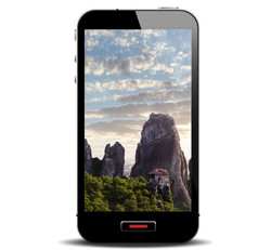 Smart Phone with Rocky Crags