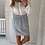 Thumbnail: Jupe courte bleue et blanche