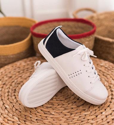 Sneakers avec arrière marine