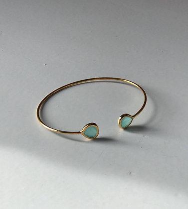 Bracelet fin perle de verre