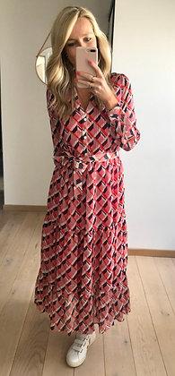 Longe robe fluide à motifs